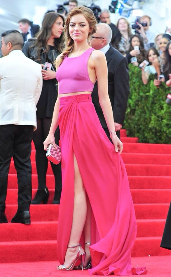 Emma Stone Met Gala | Red Carpet | Pinterest | Actrices hermosas ...