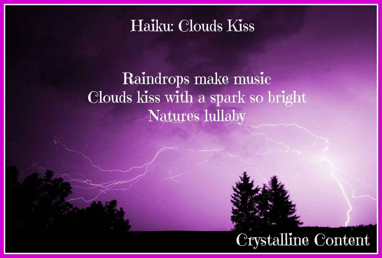Haiku Poem Clouds Kiss haiku poem poetry purple