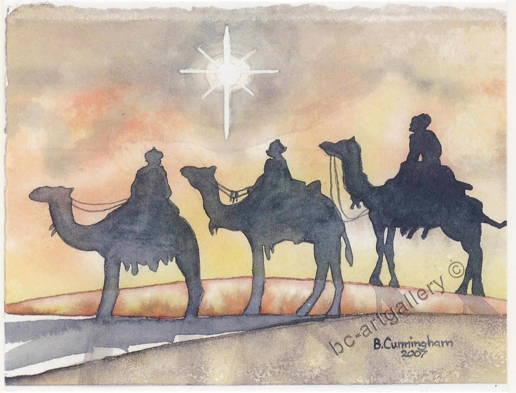 Wise Men Watercolor Christmas Cards Christmas Paintings