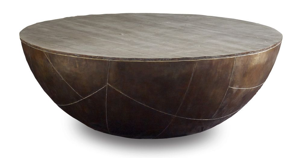 Brownstone Furniture Delano Drum Coffee Table Living Room