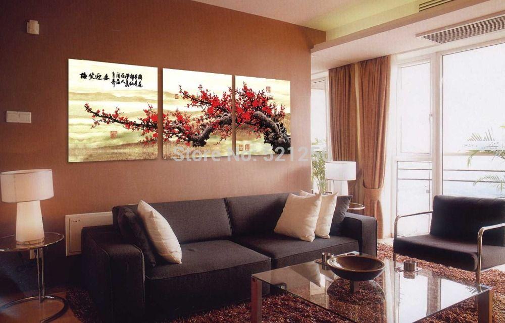 Moderno arte de la pared decoración del hogar impreso pintura al ...