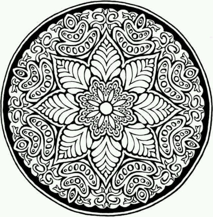 mosaic pattern geometry mandala coloring pages - Pattern Pictures To Colour