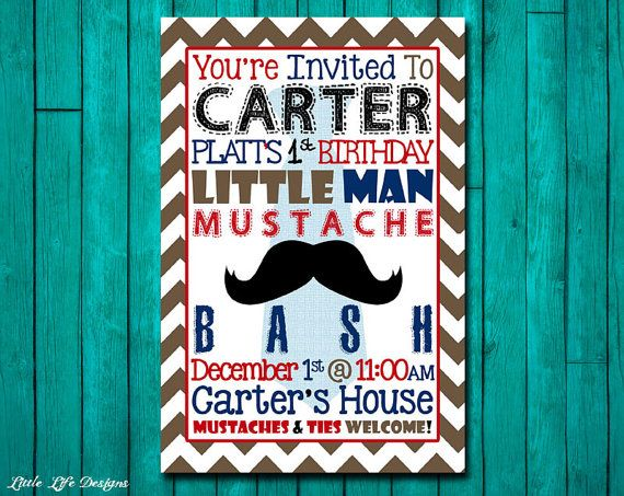 little man mustache bash birthday party by