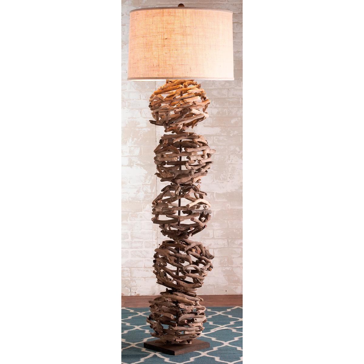 Driftwood Sphere Floor Lamp