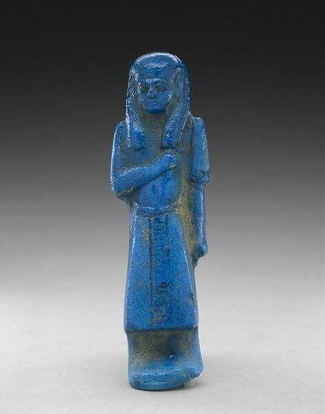 Egyptian faience Overseer Shabti of Neskhons.3rd Intermediate Period,21st Dynasty c.a. 1069-945 B.C. 17.5 x 5.4 x 3.8 cms.