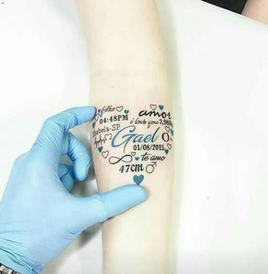 14 Tattoo Ideas For Parents Wanting To Honor Their Kids: Pin By Martina Alvarez On Tatuajes T Tattoos Body Art And