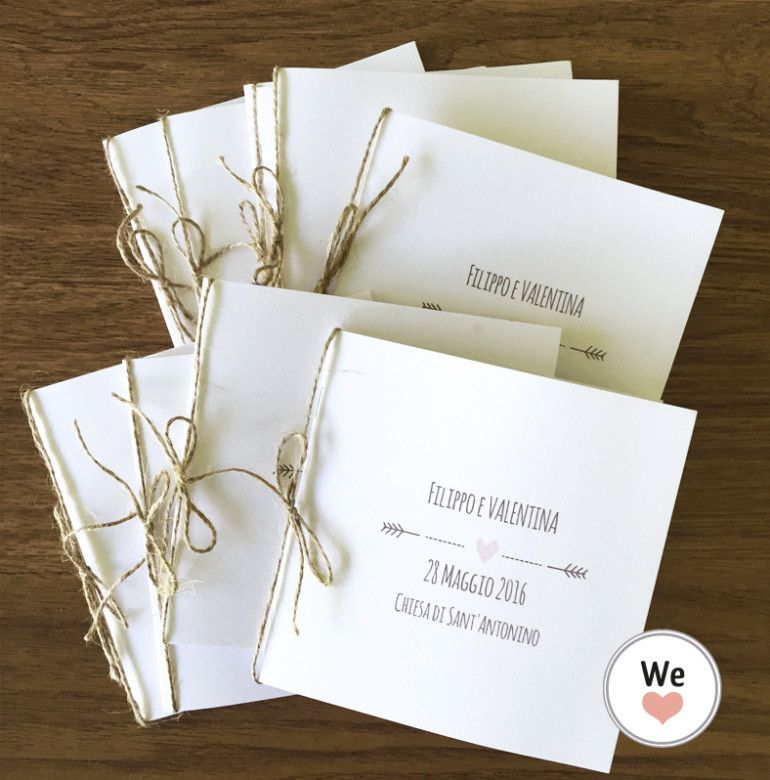 Libretto Matrimonio Simbolico Pdf : Libretto messa quadrato con cordino wedding