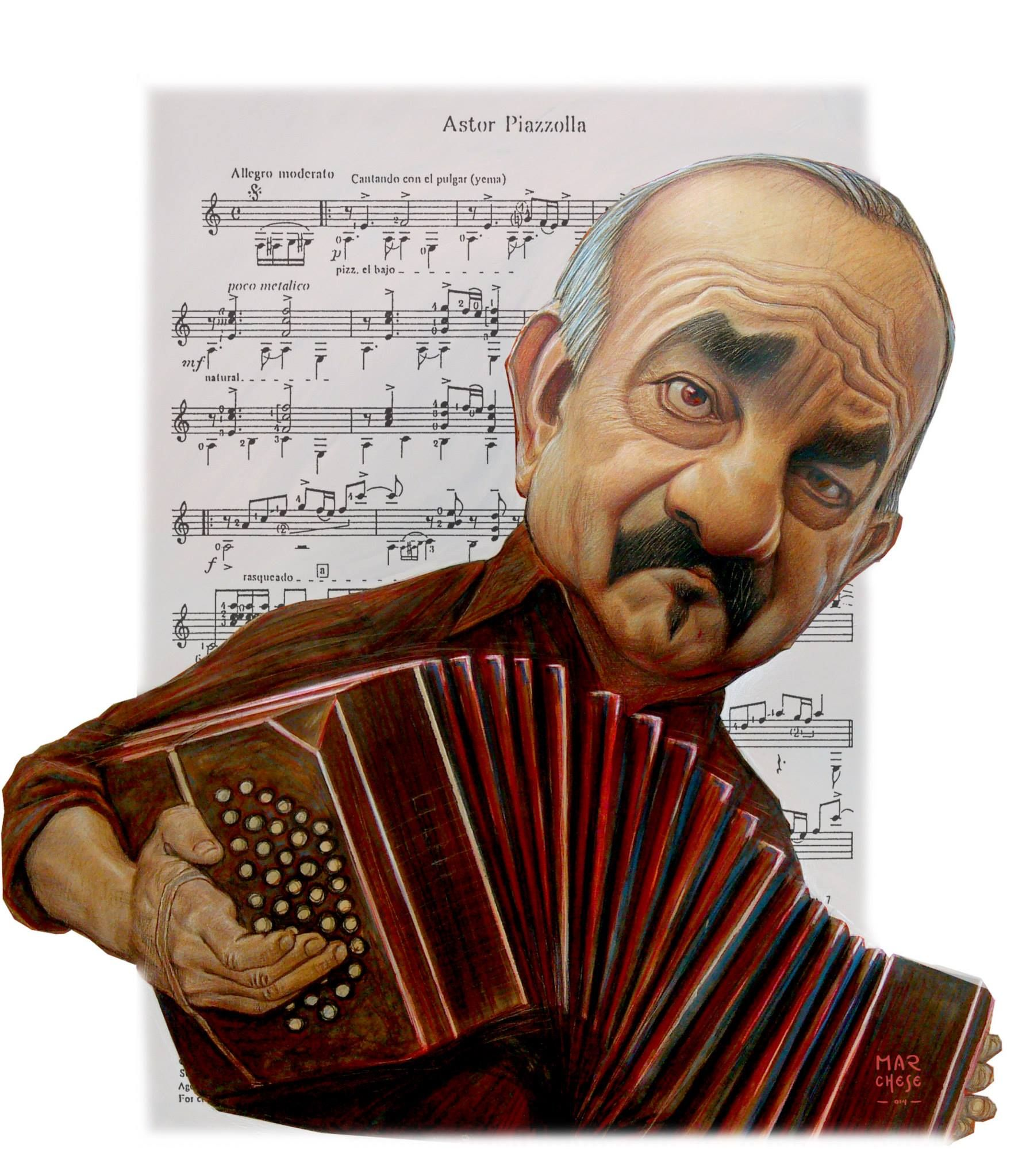 """Il Maestro """"Astor Piazzola"""". Although he (as a child) lived in NYC ..."""
