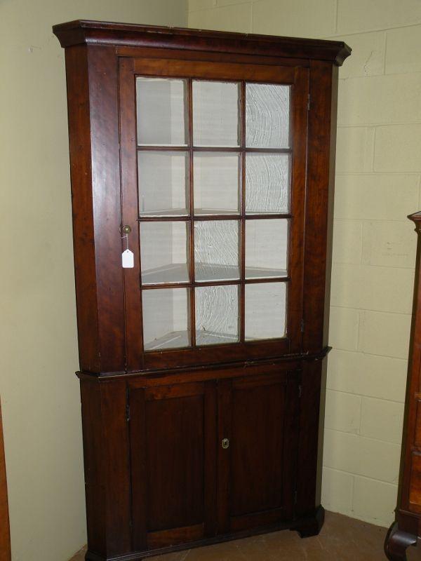 Antique Corner Cupboard in solid Cherry. Primitive Furniture, Antique  Furniture, Antique Cupboard, - Antique Corner Cupboard In Solid Cherry. Antique Glassware