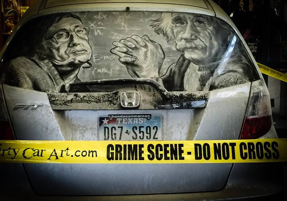Using His Finger This Man Turns Dirty Car Windows Into Amazing - Scott wade makes wonderful art dusty car windows