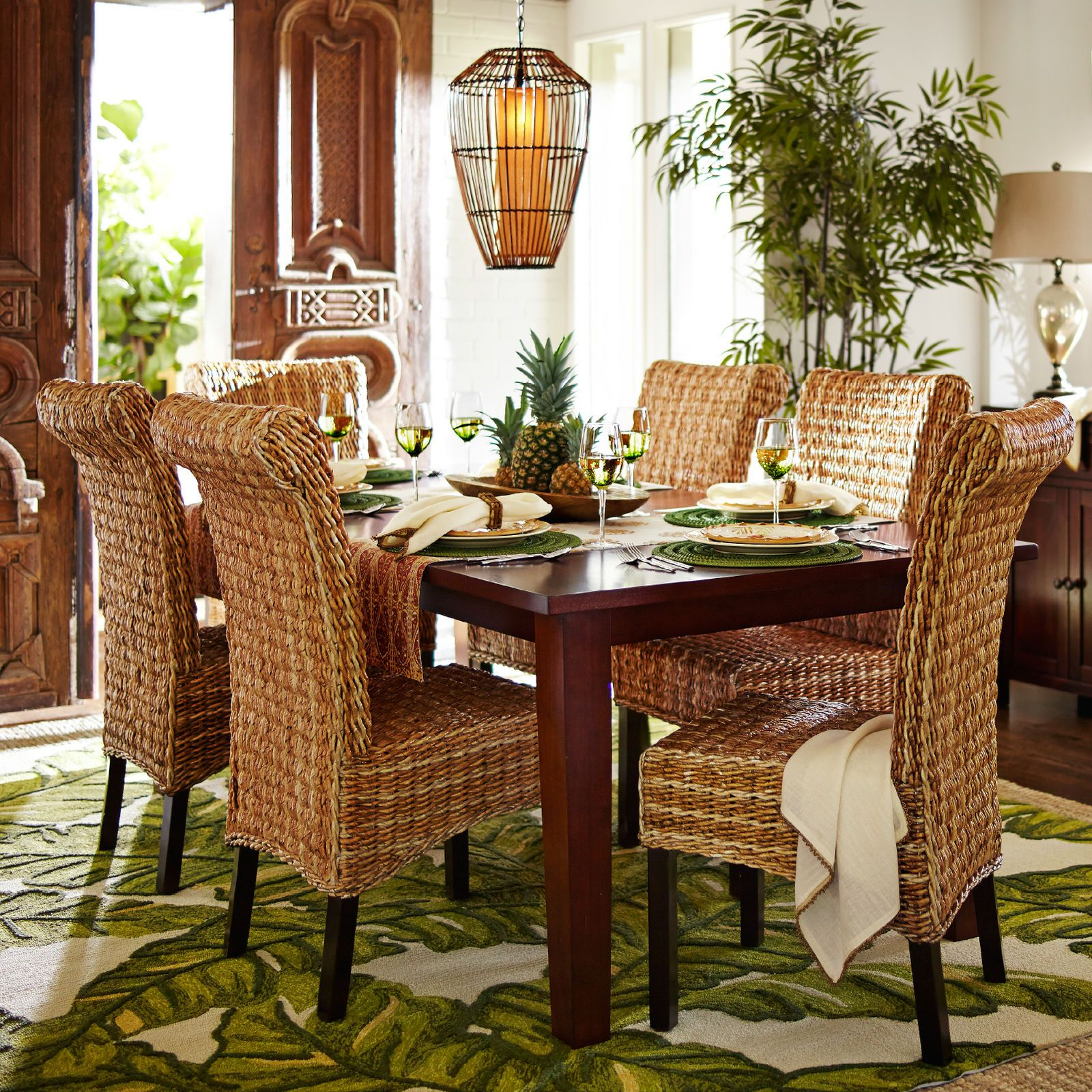 """West Indies Dining Room Furniture: Torrance 84"""" Mahogany Brown Dining Table In 2019"""