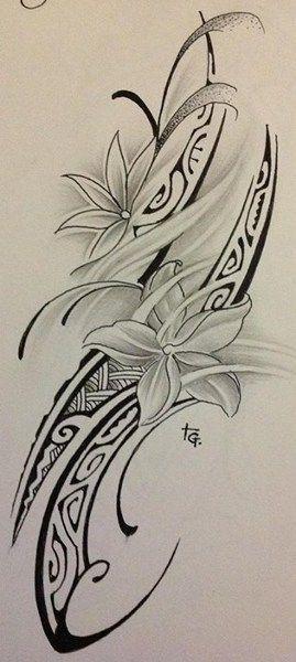 Modele Dessin Tatouage Femme Polynesien Maori Floral Files Bandes Petits Symboles Motifs Flower