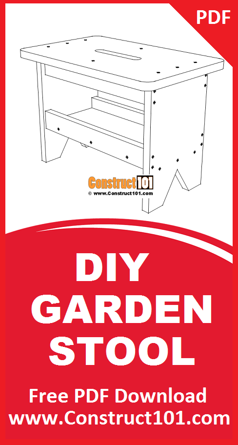 Garden Stool Plans - PDF Download - Construct101 | How to ...