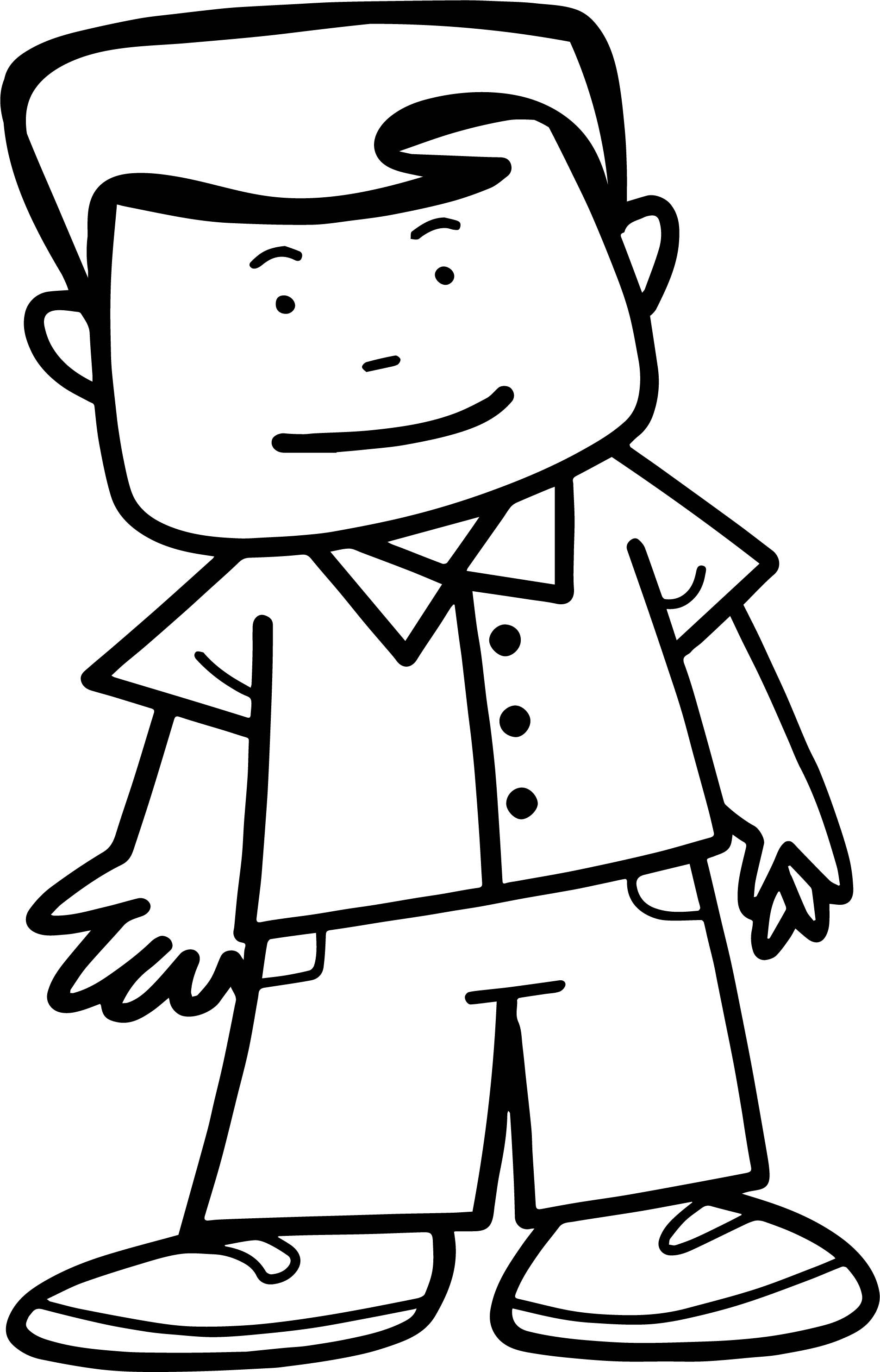 Nice Cute Doctor Man People Coloring Page