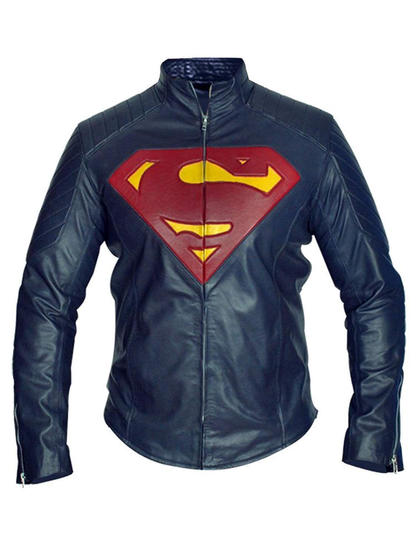 Superman Man of Steel Jacket Henry Cavill Blue Real