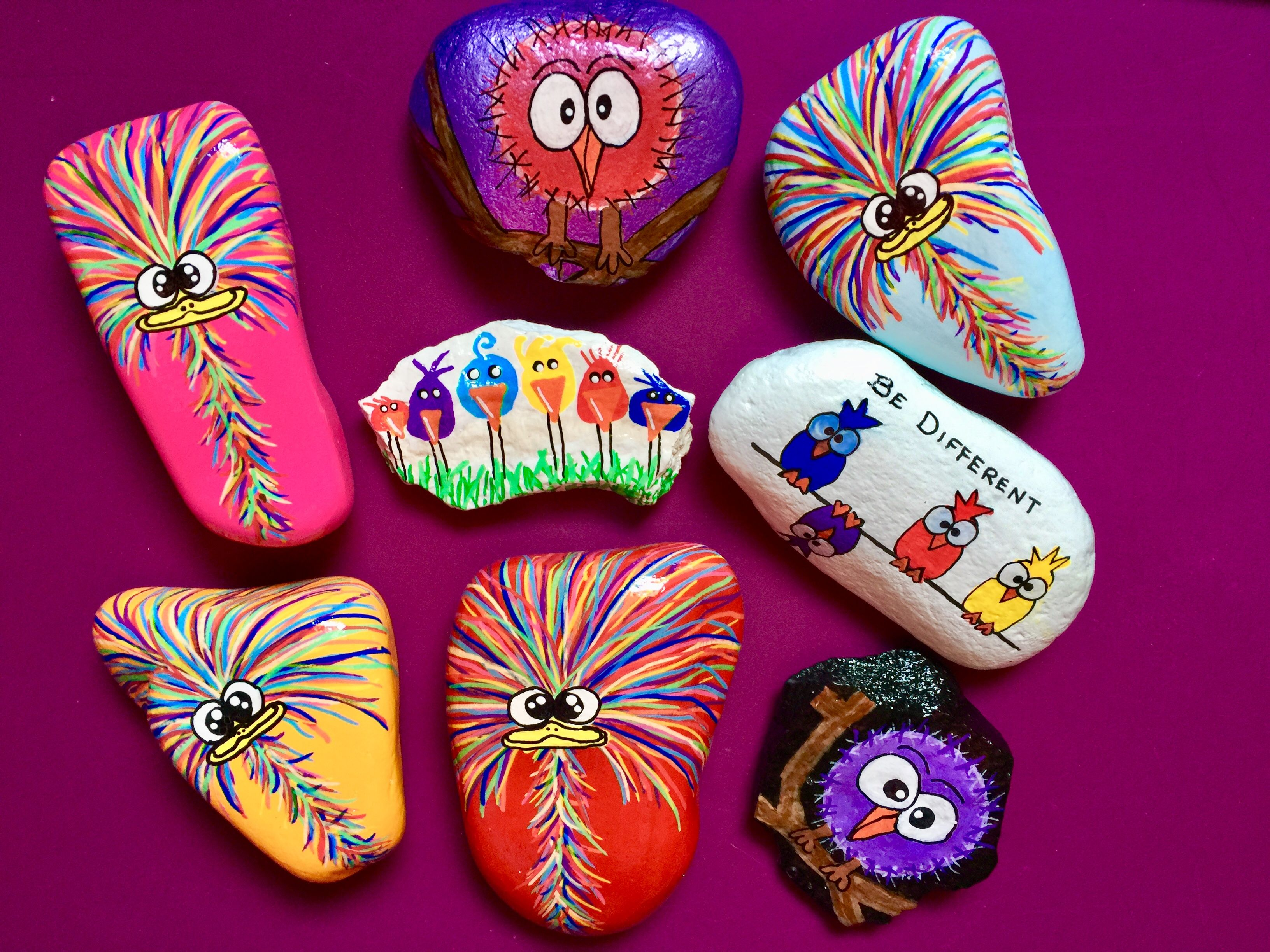 Crazy Funny Birds Rock Painting Ideas Painted Rocks Chicken And Vegetables Healthy Chicken Recipes