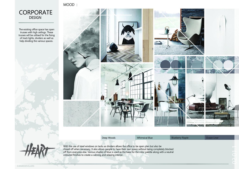 2015 Graduation Portfolio Bhc Design School Project Corporate Presentation Mood Board Student Aimee De Villiers Design School Design School