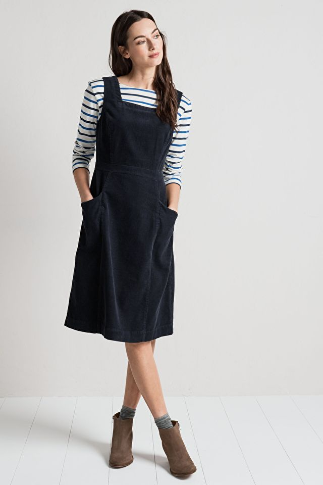 A classic pinafore style dress with a signature Seasalt twist. Our High Deck  Pinafore Dress is made from chunky yet soft and supple cord. 87774086031d