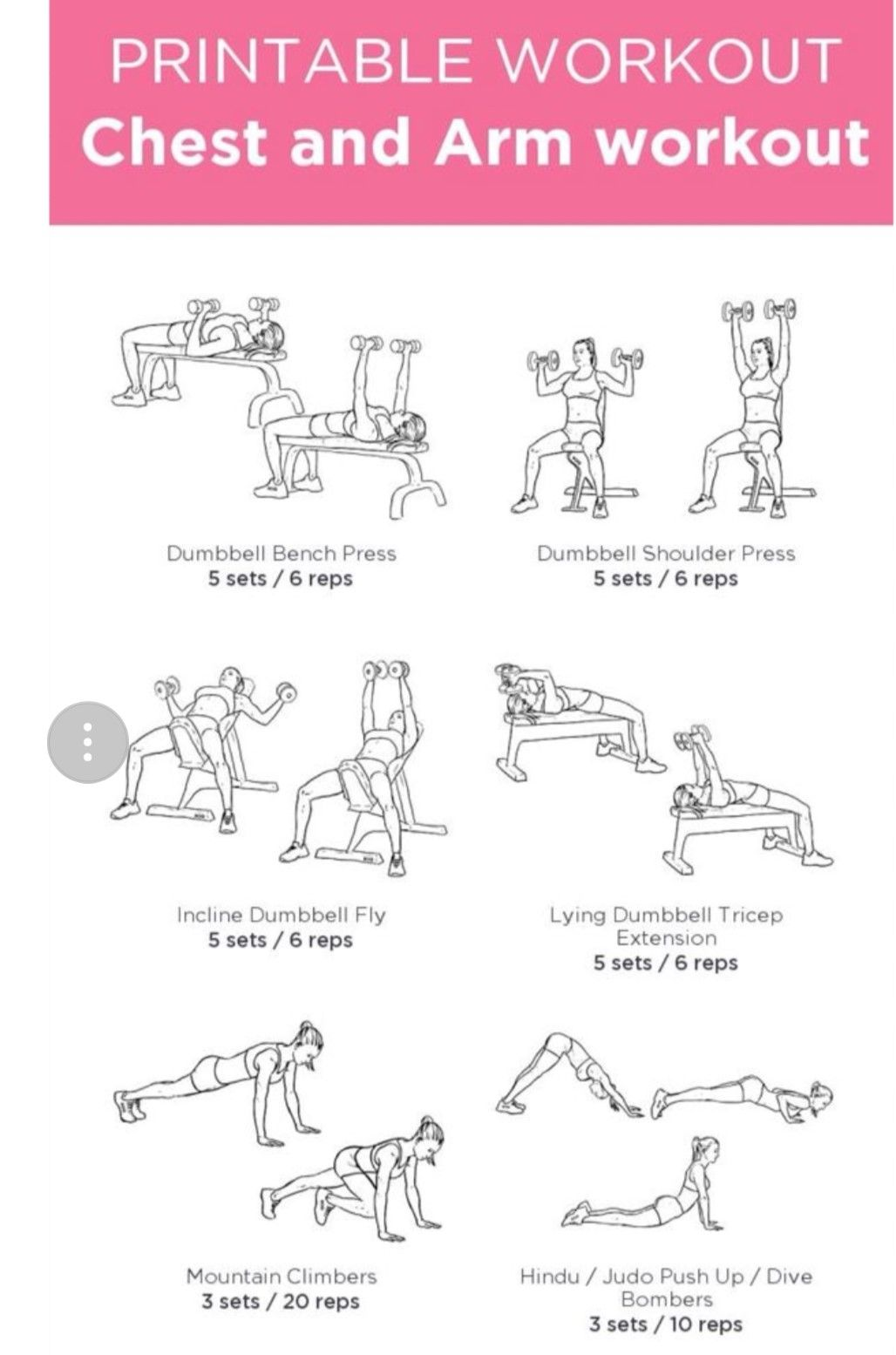 Pin by Christa Conrad on Fitness Chest and arm workout