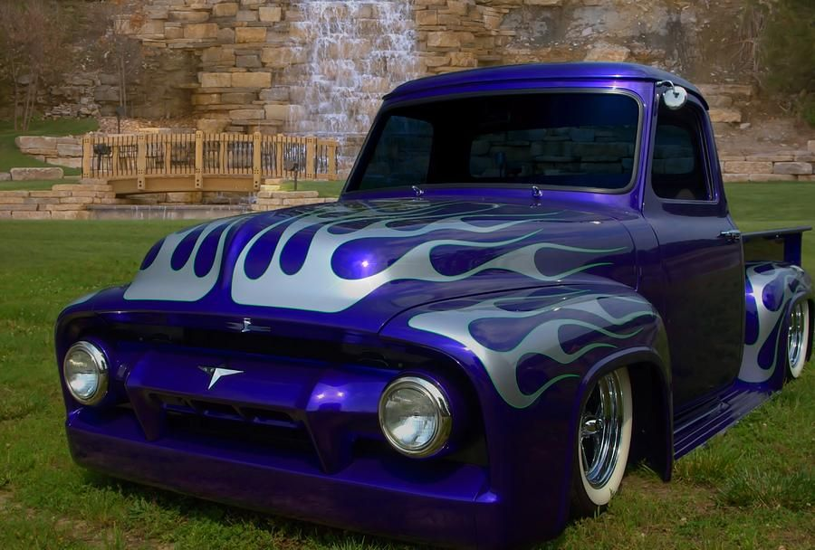 1955 Ford F100 Pickup Truck By Tim Mccullough Pickup Trucks Ford Pickup Trucks 1955 Ford F100