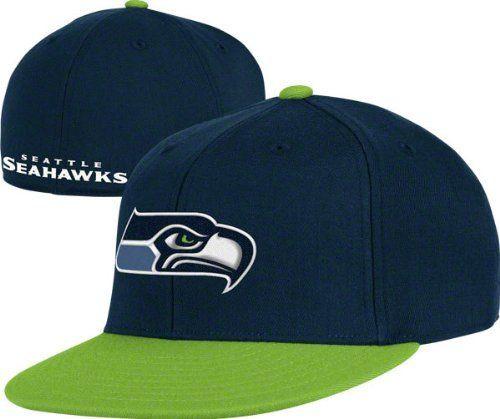 Seattle Seahawks Football NFL Flex Fit Size Small   Medium Hat Cap Vintage  Team Colors Lime c42345258157
