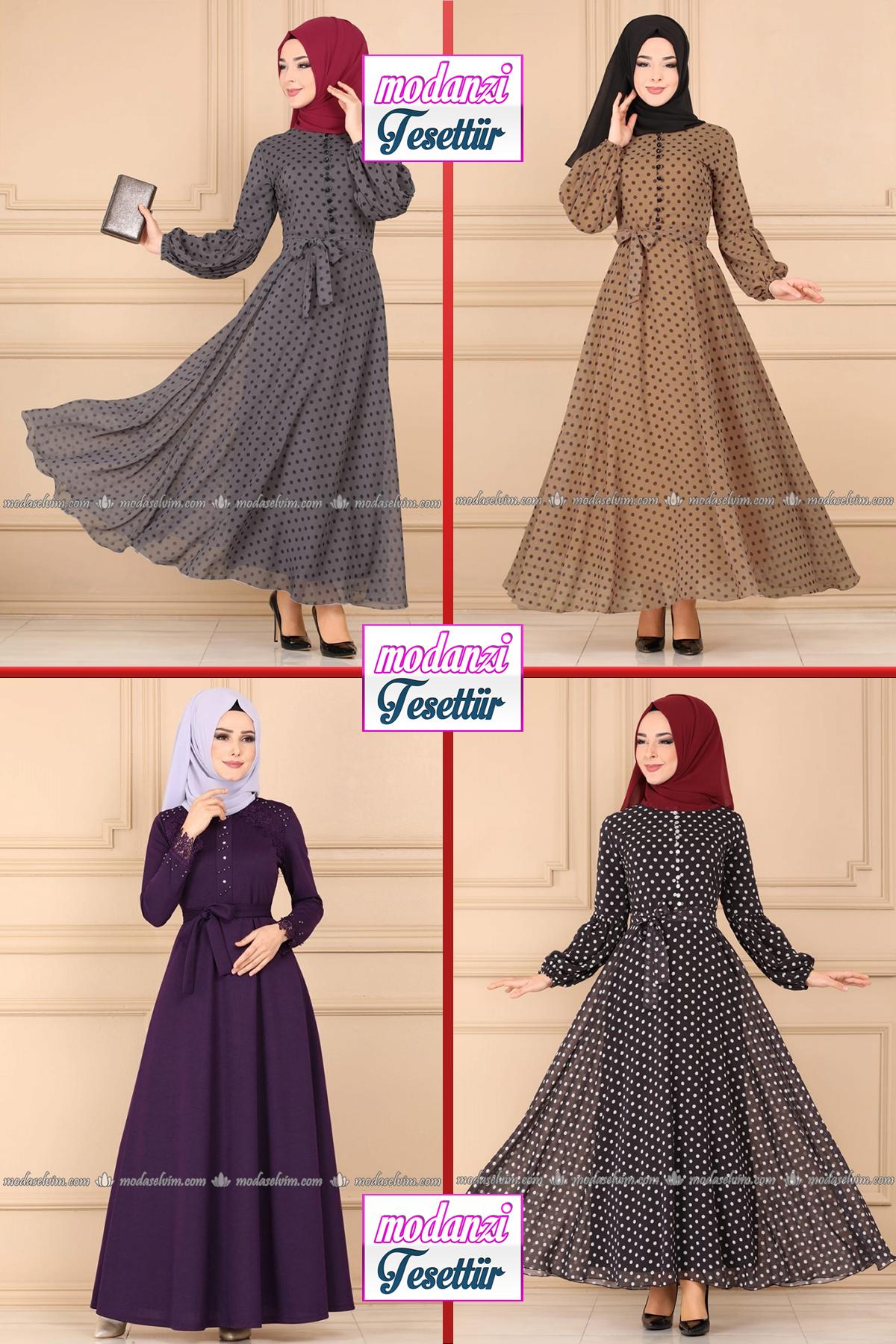 Modaselvim Elbise Modelleri 2020 30 Moda Selvim Yeni Sezon Tesettur Elbise Modelleri 2020 Moda Elbise Moda Stilleri