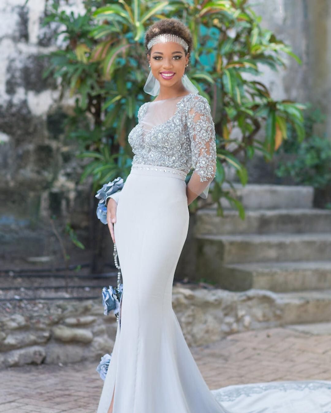 Gray will be a popular color for wedding dresses this year loving