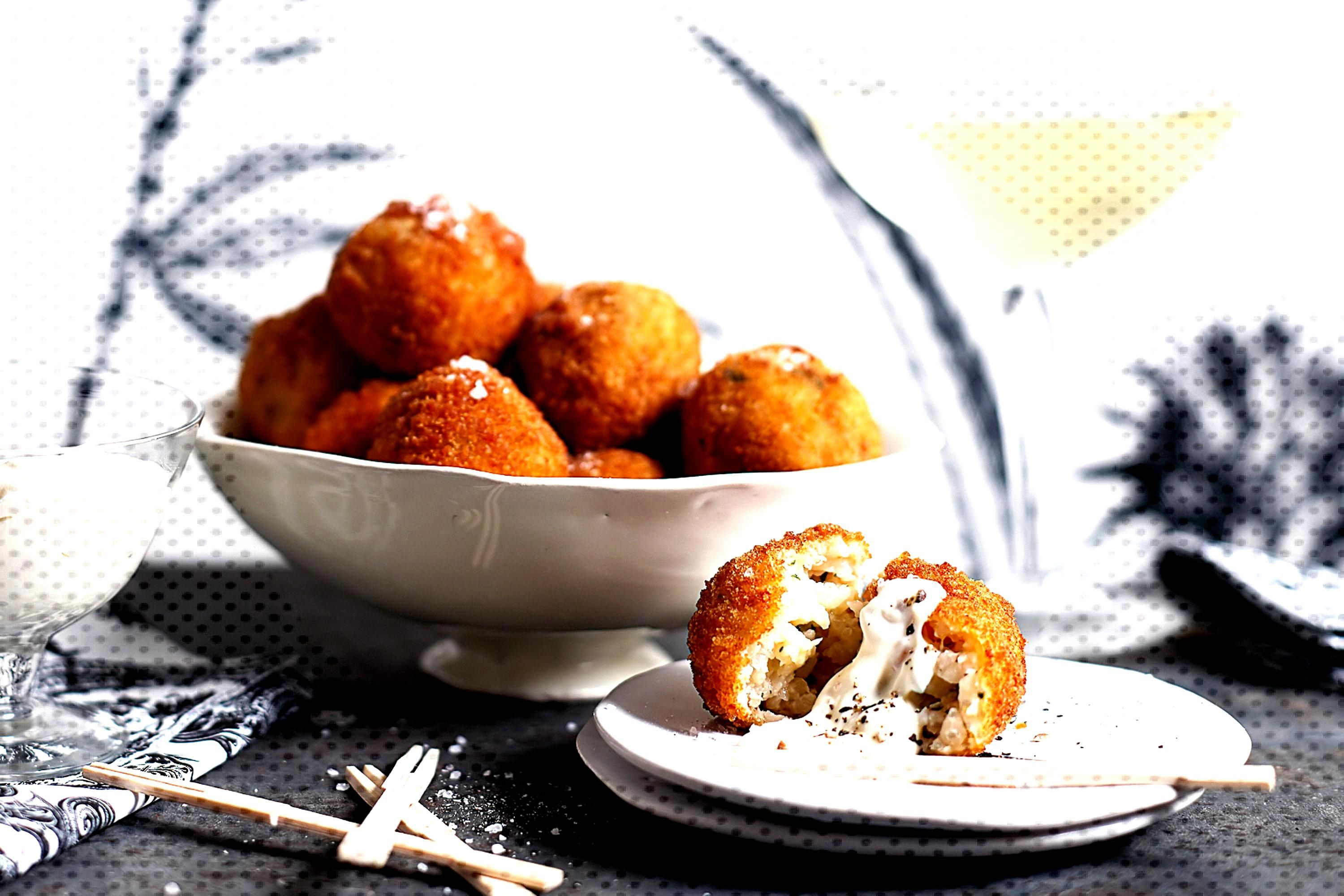 Prawn and lemon arancini -