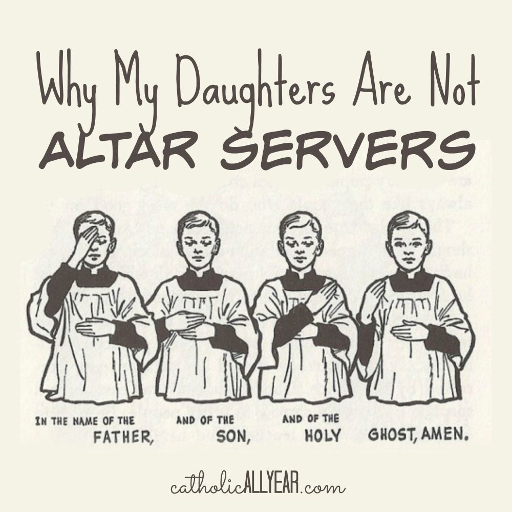 Wedding Prayer Altar: Why My Daughters Are Not Altar Servers