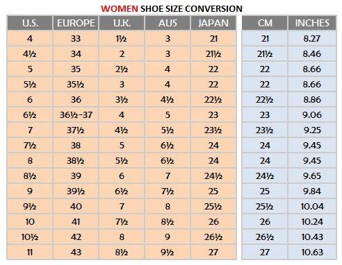 Http verytangostore women shoe sizes also   international size conversion chart canada rh pinterest