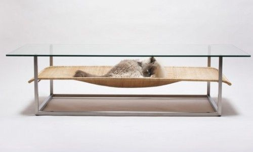 Coffee Table For Cat Owners Hammock By Koichi Futatsumata