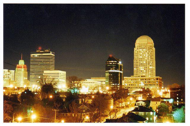 Winston Salem Skyline Downtown Winston Salem Winston Salem Nc Winston Salem North Carolina