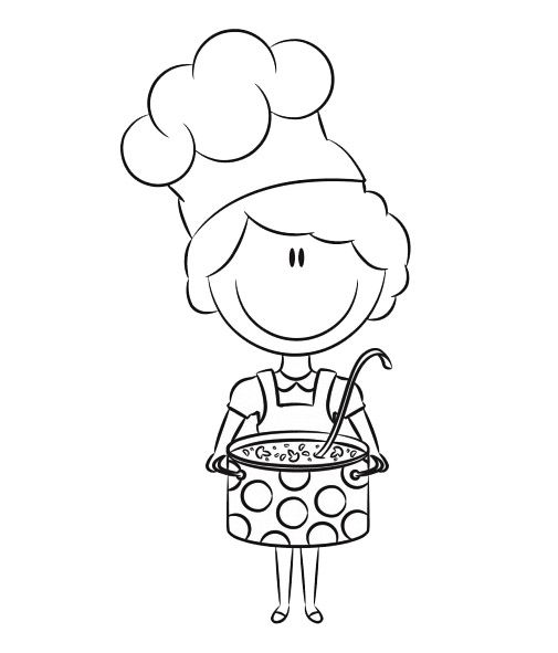 Chefmaster And Little Chef Coloring Pages Is A Fun Page For Kids Who Love Cooking