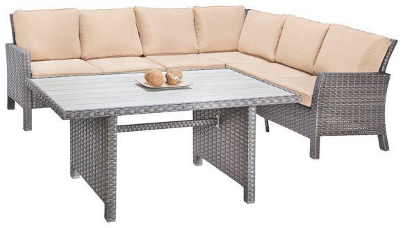 dieses set aus gartentisch und gartenbank bietet gro z gig platz f r ihre g ste und schafft viel. Black Bedroom Furniture Sets. Home Design Ideas