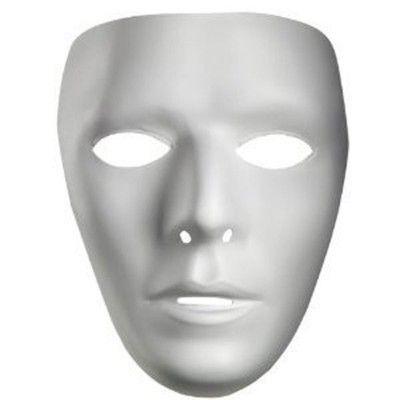 Plastic Masks To Decorate Beauteous Privateislandparty White Masks Bulk Dozen 1662D $3000 White Design Ideas