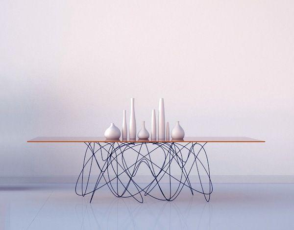 Inspired By Quantum Physics The Quantum Table Is An Interpretation Of What The Movement Or Path Con Imagenes Mesa De Diseno Diseno De Muebles Ideas De Diseno De Interiores
