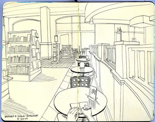 barnes and noble cafe by paul heaston, via Flickr