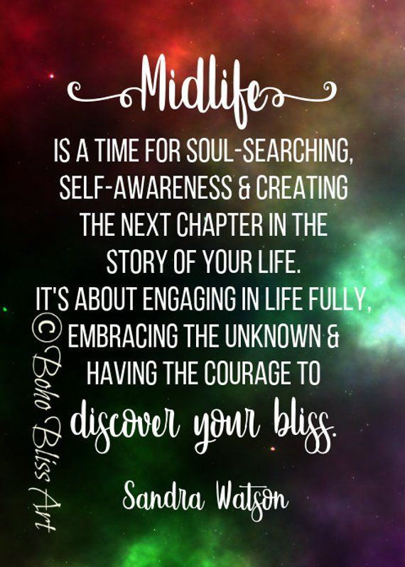 Midlife is a time for soul-searching, self-awareness & creating the next chapter in the story of your life. Empowering Quote Art Printable