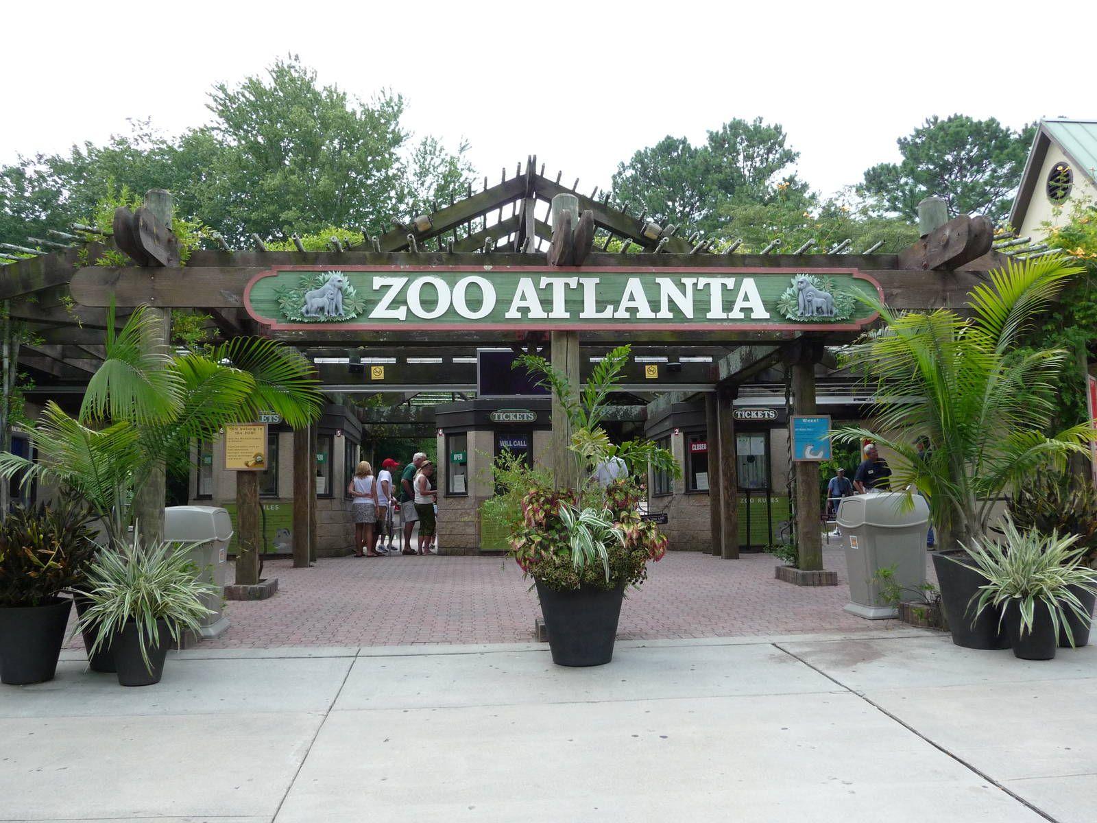 Zoo Entrance Atlanta - Sign Zoo' Usa