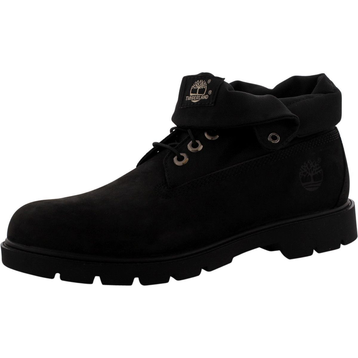 e09c7b8b2f1 Men'S Basic Roll Top Boot - Black Nubuck | Deep Desires | Boots ...