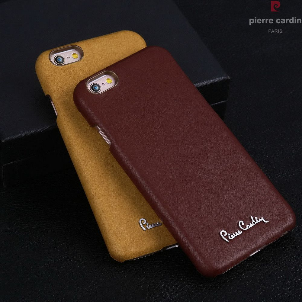 Pierre Cardin Genuine Leather Mobile Phone Cases Accessories For iPhone 6 6s   Plus Luxury Hard 18a60f1b46