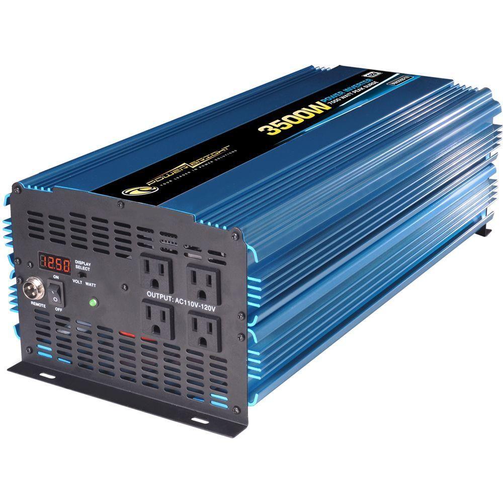 Power Bright 12 Volt Dc To Ac 3500 Watt Power Inverter Solar