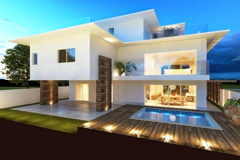 30 fachadas de casas modernas dos sonhos outdoor for Casa design moderno