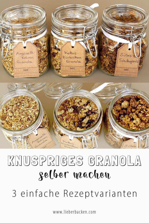 Leckere Weihnachtsgeschenke.Knuspriges Granola Selber Machen Zum Frühstück Oder Als Dessert
