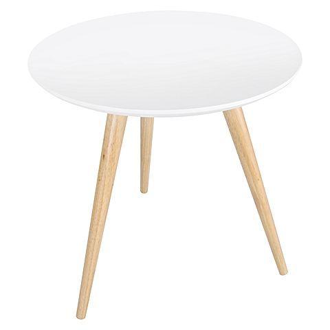 Ellipse White Side Table by Resort Living | Zanui