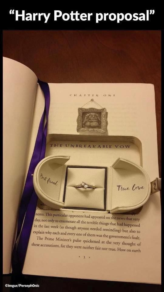 Harry Potter Unbreakable Vow Proposal Ring Box Wedding Stuff