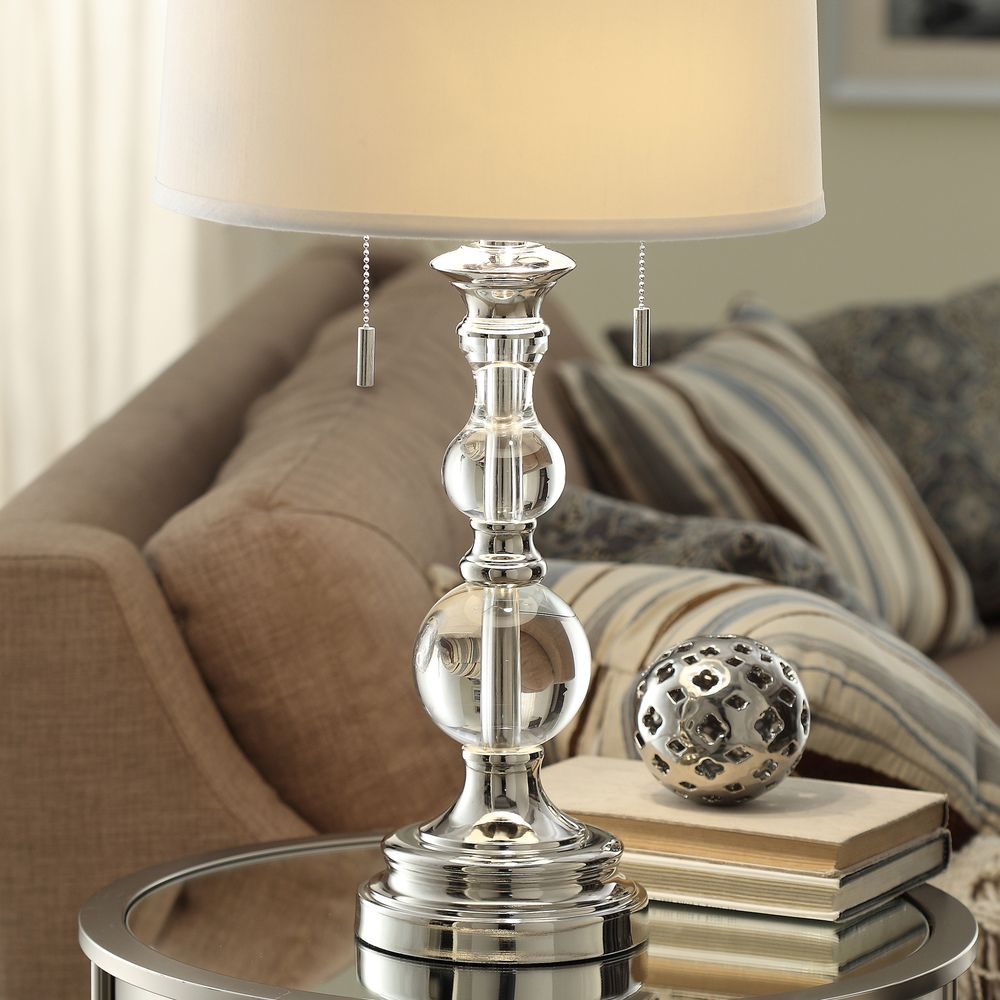 INSPIRE Q Quinn Crystal Mercury Base 2-Light Accent Table Lamp - Overstock  Shopping