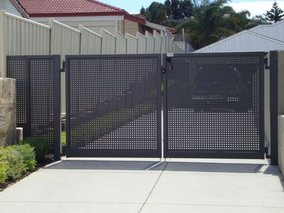 Image Result For Perforated Metal Fence Gate Residential