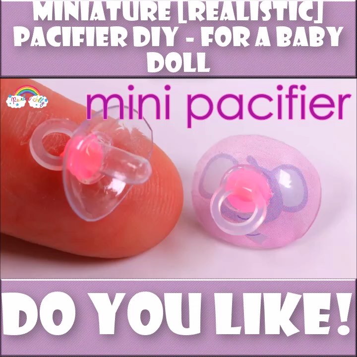 Miniature Pacifier DIY -   21 DIY Clothes Videos for teens ideas