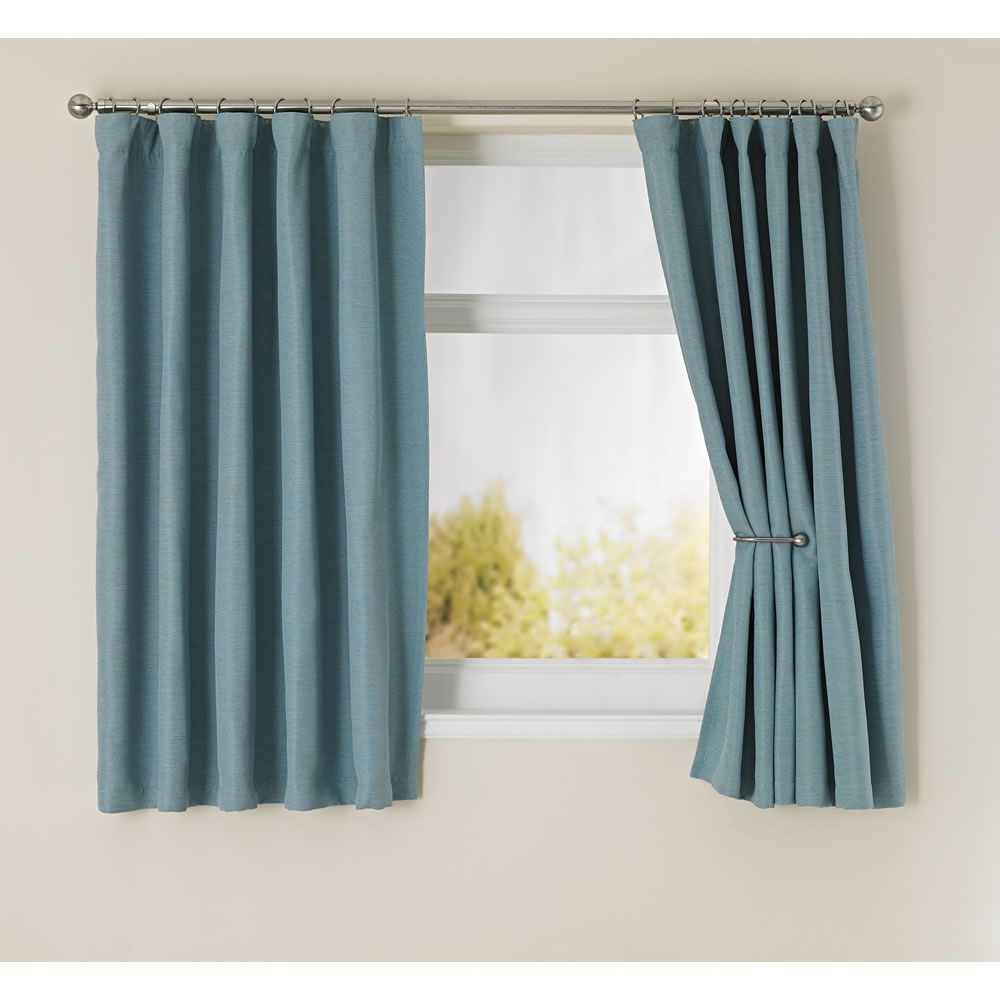 Wilko Blackout Curtains Duck Egg Blue 167x137cm
